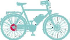 elcykel-bakmotor
